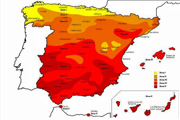 Recurso solar en España. (Fuente: IDAE)