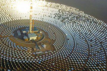 record de producción en la central termosolar de Gansu