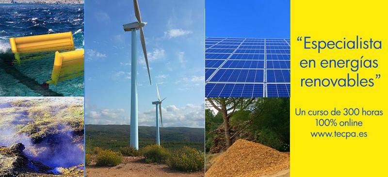 Curso de energías renovables de 300 horas