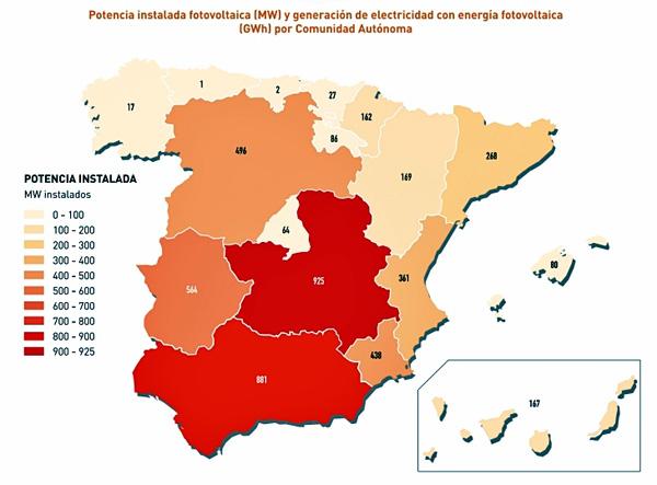 Nuevo record de potencia de energía fotovoltaica en España - Es energía