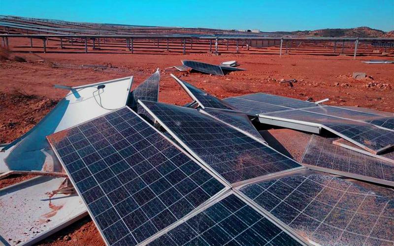 instalaciones fotovoltaica daños viento